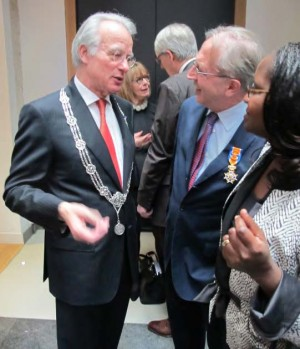 With Mayor of The Hague and Wife Maggy